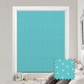 Made to Measure Pico Turquoise Vertical Blind